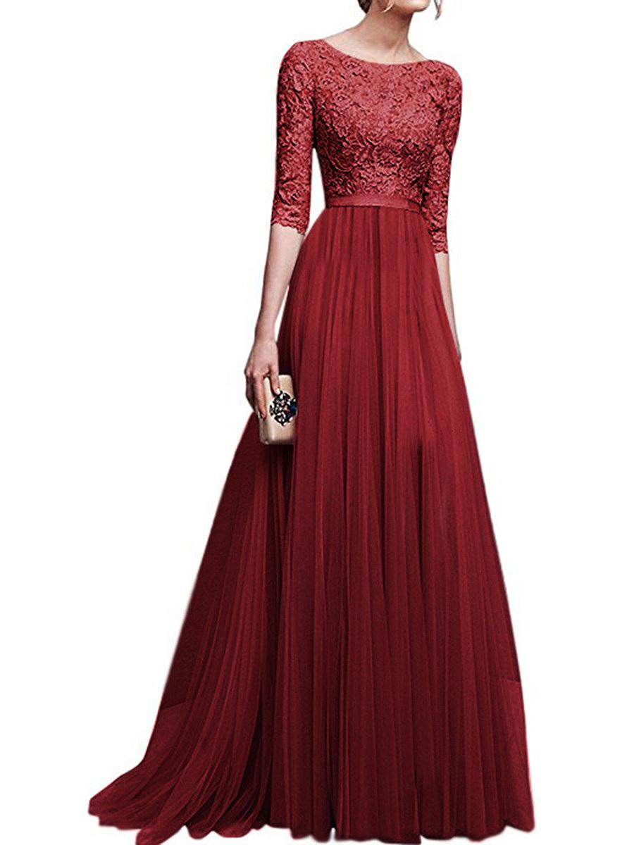 Plain Evening Gowns