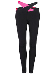 Cutout-Color-Block-Low-Rise-Legging
