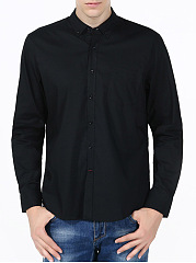 Solid Patch Pocket Men Shirts