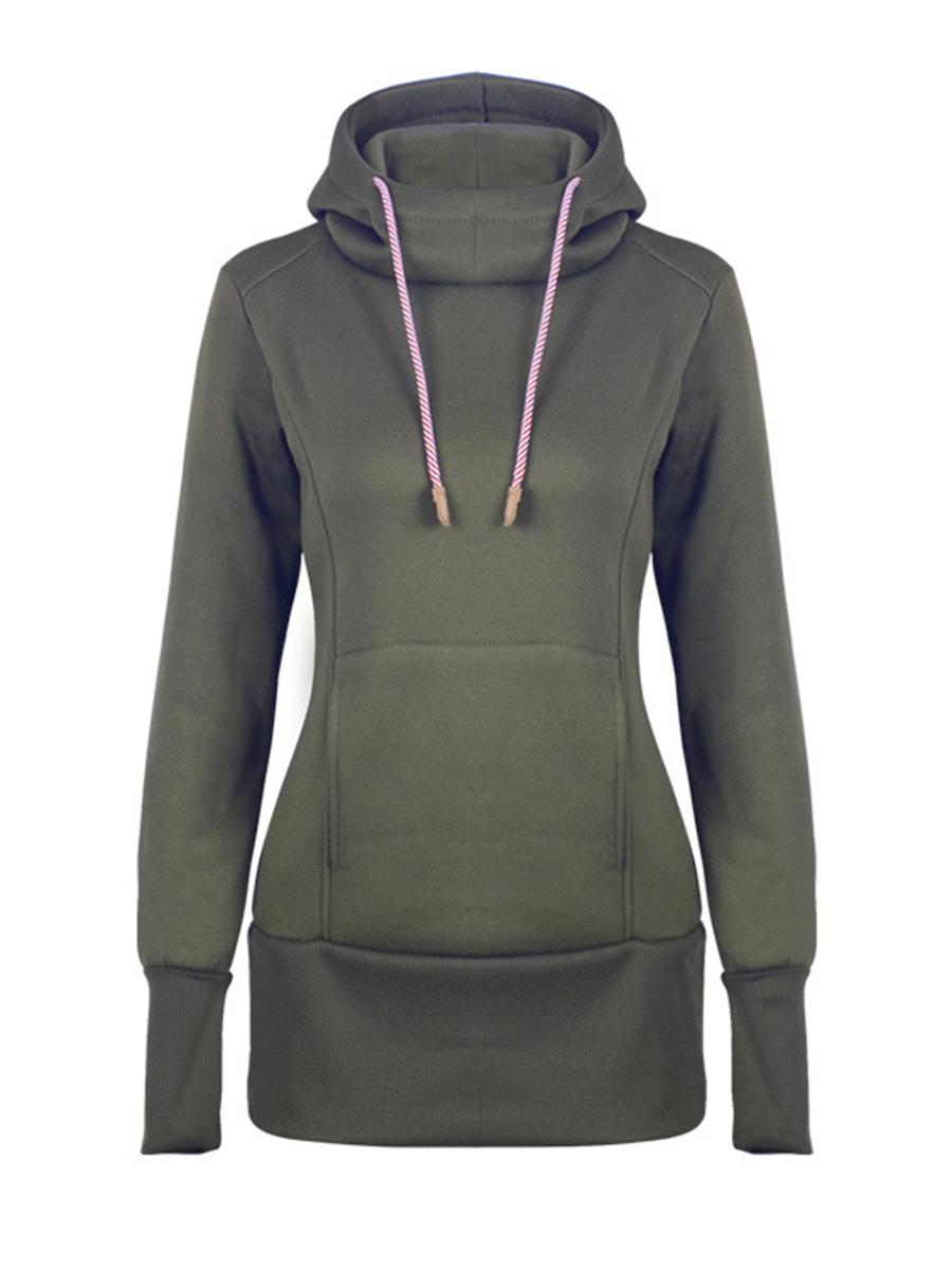 casual plain basic casual autumn spring hoodies Hooded  Plain Bucket Casual Hoodies