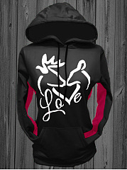Distinctive Printed Kangaroo Pocket Hoodie