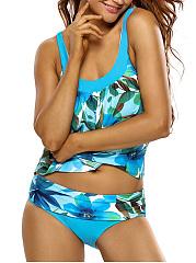 Spaghetti-Strap-Floral-Printed-Swimwear