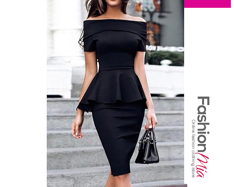 material:spandex, collar&neckline:off shoulder, pattern_type:plain, length:knee-length, dress_silhouette:fitted, package_included:dress*1, lengthbusthip