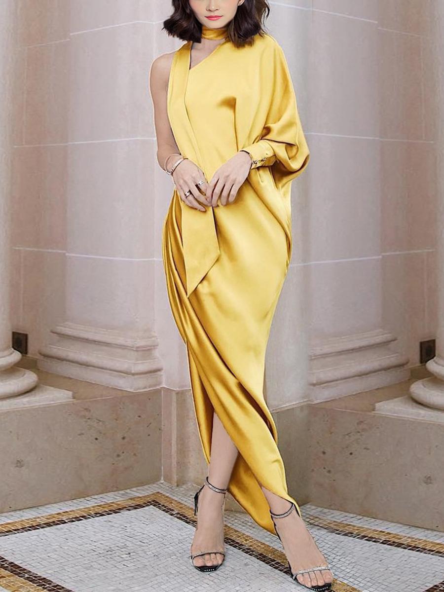 Elegant One Sleeve Dress