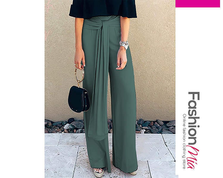Sling Pure Color Wide Leg Pants